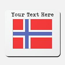Custom Norway Flag Mousepad