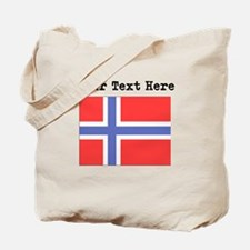 Custom Norway Flag Tote Bag