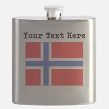 Custom Norway Flag Flask