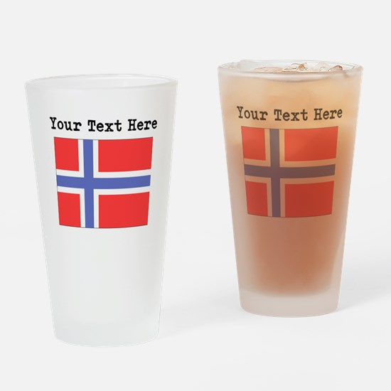 Custom Norway Flag Drinking Glass