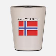 Custom Norway Flag Shot Glass
