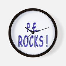 P.E. Rocks ! Wall Clock