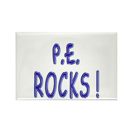 P.E. Rocks ! Rectangle Magnet (100 pack)