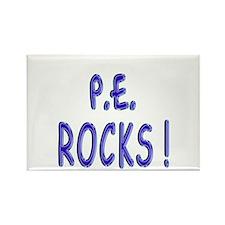 P.E. Rocks ! Rectangle Magnet