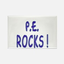 P.E. Rocks ! Rectangle Magnet
