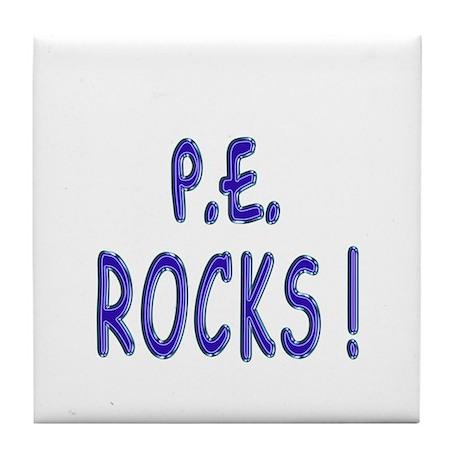 P.E. Rocks ! Tile Coaster