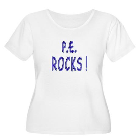 P.E. Rocks ! Women's Plus Size Scoop Neck T-Shirt