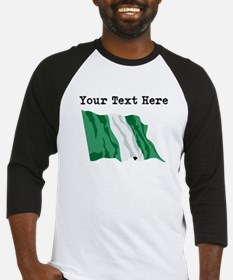 Custom Nigeria Flag Baseball Jersey