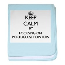 Keep calm by focusing on Portuguese P baby blanket