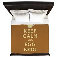 Keep Calm And Egg Nog King Duvet