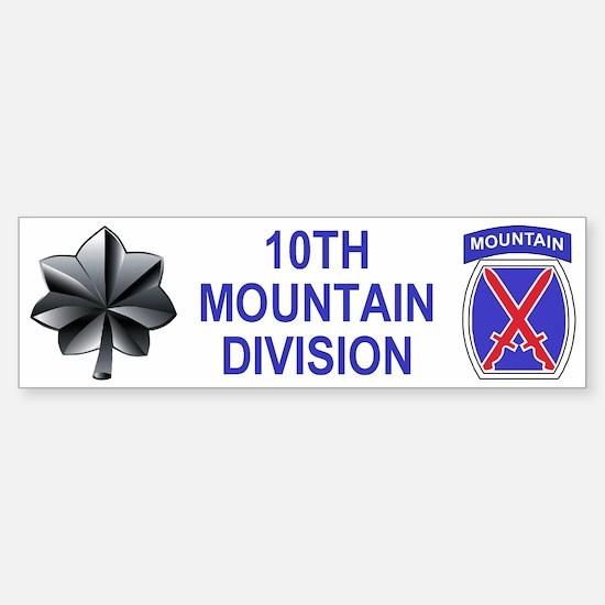 10th Mountain Division<BR>LtCol Bumper Bumper Bumper Sticker