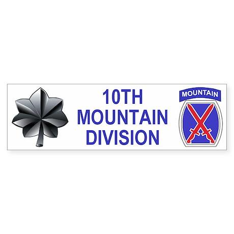 10th Mountain Division<BR>LtCol Bumper Sticker