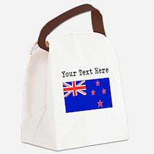 Custom New Zealand Flag Canvas Lunch Bag