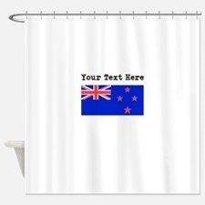 Custom New Zealand Flag Shower Curtain
