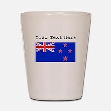 Custom New Zealand Flag Shot Glass