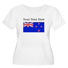 Custom New Zealand Flag Plus Size T-Shirt