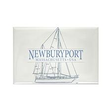 Newburyport MA - Rectangle Magnet