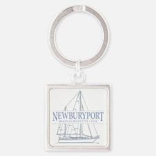 Newburyport MA - Square Keychain