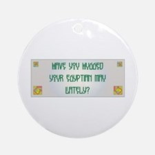 Hugged Mau Ornament (Round)