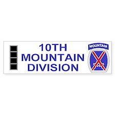 10th Mountain Division<BR>CW4 Bumper Bumper Sticker