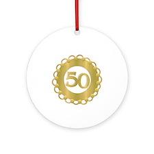 50th Golden Anniversary Ornament (Round)