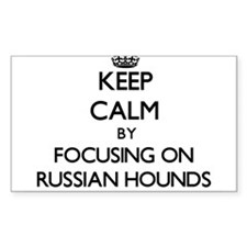 Keep calm by focusing on Russian Hounds Decal