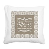 Anniversary Square Canvas Pillows