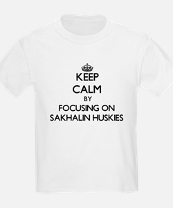 Keep calm by focusing on Sakhalin Huskies T-Shirt
