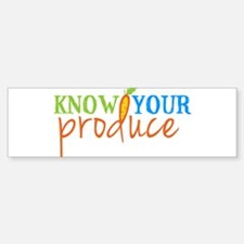 Know Your Produce Logo Bumper Bumper Bumper Sticker