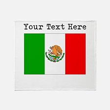Custom Mexico Flag Throw Blanket
