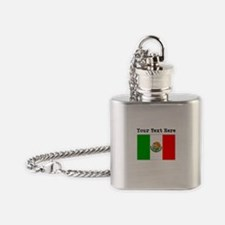 Custom Mexico Flag Flask Necklace