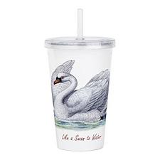 Lik a Swan to Water Acrylic Double-wall Tumbler
