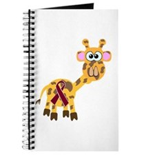 Burgundy Awareness Ribbon Giraffe Journal