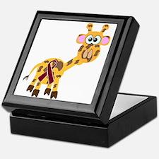 Burgundy Awareness Ribbon Giraffe Keepsake Box