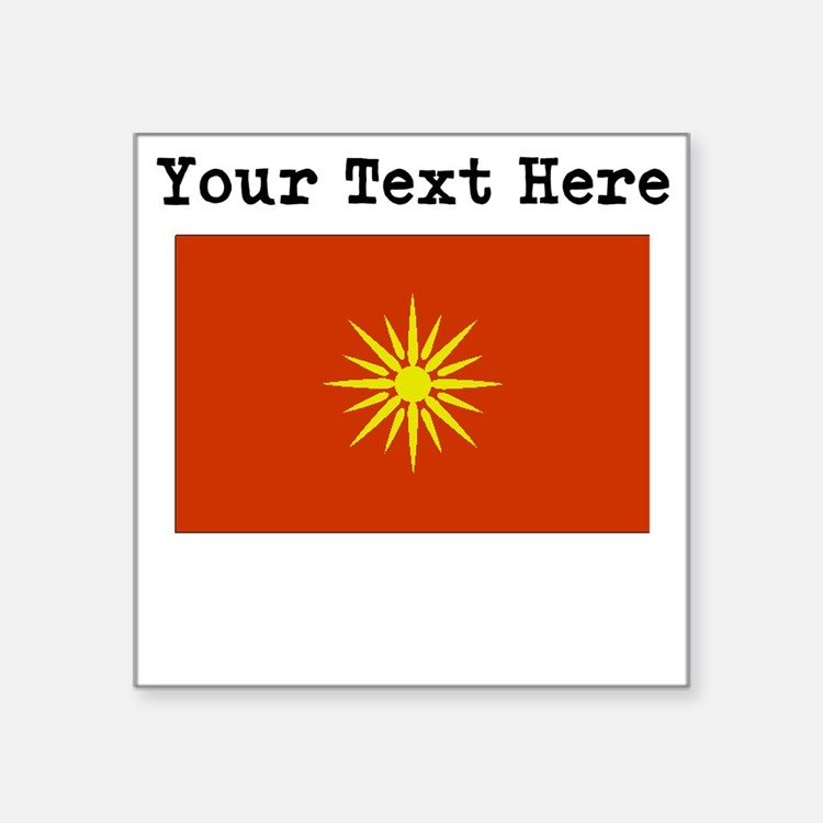 Custom Macedonia Flag Sticker