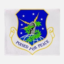 USAF Air Force 91st Missile Wing Shi Throw Blanket
