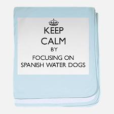 Keep calm by focusing on Spanish Wate baby blanket