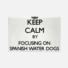 Keep calm by focusing on Spanish Water Dog Magnets