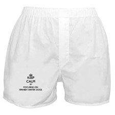 Keep calm by focusing on Spanish Wate Boxer Shorts