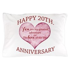 20th. Anniversary Pillow Case