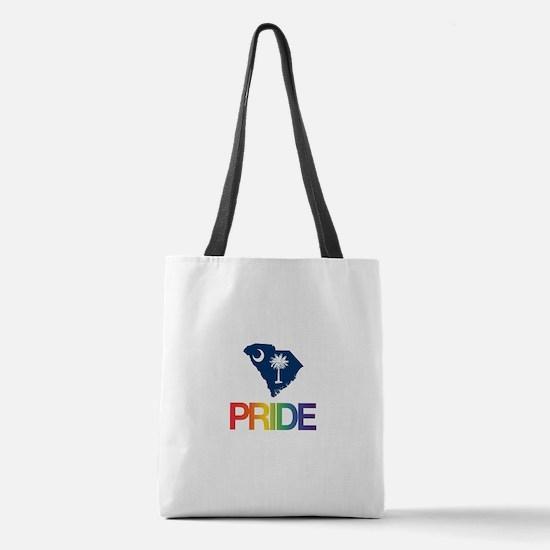 South Carolina Gay Pride Polyester Tote Bag