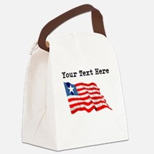 Custom Liberia Flag Canvas Lunch Bag