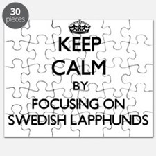 Keep calm by focusing on Swedish Lapphunds Puzzle