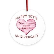 20th. Anniversary Ornament (Round)