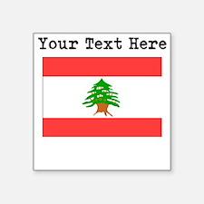 Custom Lebanon Flag Sticker
