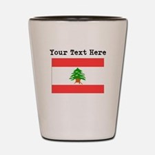 Custom Lebanon Flag Shot Glass