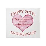20th wedding anniversary Blankets