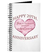 20th. Anniversary Journal
