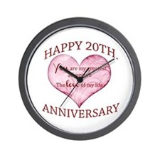 20th. Anniversary Wall Clock