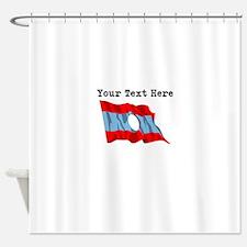 Custom Laos Flag Shower Curtain